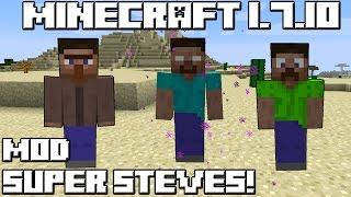 getlinkyoutube.com-Minecraft 1.7.10 MOD SUPER STEVES!