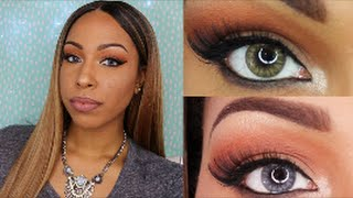 getlinkyoutube.com-Desio Contact Lenses Review & Try on | Smoky Grey & Caramel Brown (Please read the description box)