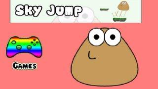 getlinkyoutube.com-Pou Gameplay - Sky Jump
