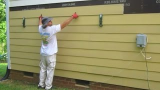 getlinkyoutube.com-Use Gecko Gauge Clamps to install James Hardie Fiber Cement Siding by yourself one man How to Cut