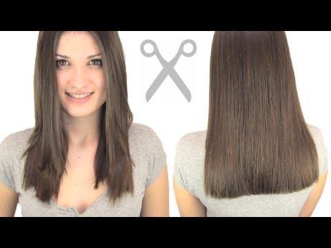 ¿Cómo cortar el cabello recto?
