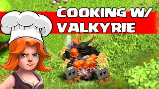 getlinkyoutube.com-Clash Of Clans - COOKING w/ VALKYRIE Tips & Tricks (Valkyrie Gameplay)