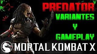 getlinkyoutube.com-Mortal Kombat X | New Character PREDATOR Gameplay- Variantes & Fatality