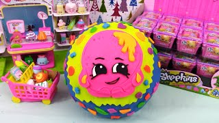 getlinkyoutube.com-SHOPKINS Giant Play Doh Surprise Donna Donut - Surprise Egg and Toy Collector SETC