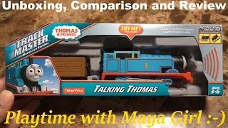 getlinkyoutube.com-Thomas & Friends Trackmaster: All New Talking Thomas Unboxing and Review