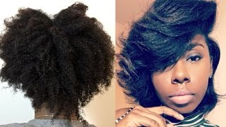 Thick Curly to straight hair Tutorial | How to: STRAIGHTENING NATURAL HAIR 2017 | Silky straight