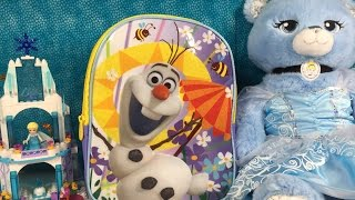 getlinkyoutube.com-Frozen Olaf Surprise Blind Bag Backpack Shopkins MLP Disney Hello Kitty Doc McSuffins Unboxing
