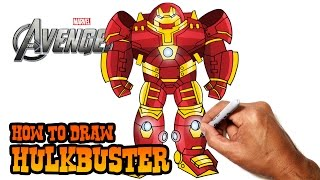 getlinkyoutube.com-How to Draw Hulkbuster (Avengers)- Step by Step