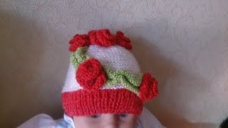 Детская шапочка!Вязание для начинающих.Baby Beanie!knitting