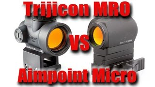 getlinkyoutube.com-Trijicon MRO Vs Aimpoint Micro T1 H1