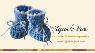 getlinkyoutube.com-Zapatitos para bebé en crochet (Parte 1)