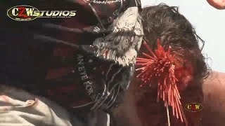 getlinkyoutube.com-CZW Tournament of Death 15: MASADA vs. Conor Claxton (StreamCZW.com) Barbed Wire Madness Match