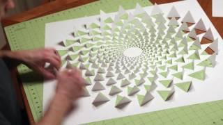 getlinkyoutube.com-3D optical illusion wall art made using one sheet of paper
