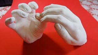 getlinkyoutube.com-Faça a Réplica da Sua Mão em Gesso - DIY