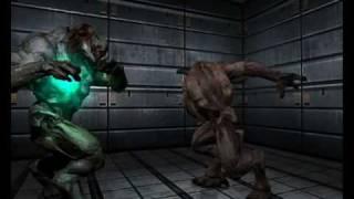 getlinkyoutube.com-Doom 3 INFIGHT ! Hell Knight vs Baron of hell
