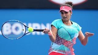 getlinkyoutube.com-Mirza/Dodig v Hingis/Paes highlights (QF) | Australian Open 2016