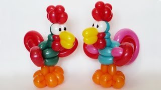 getlinkyoutube.com-Петушок из шаров / Cockerel of balloons (Subtitles)
