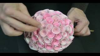 getlinkyoutube.com-Memory Box Paper Rose Topiary