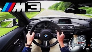 getlinkyoutube.com-BMW M3 Competition Top Speed Acceleration Autobahn POV Sound - 450 HP F80 Sedan