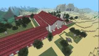 getlinkyoutube.com-San Juan Bautista Mission Project Built in MineCraft 1.2.5