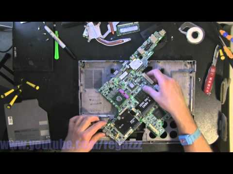 DELL D830 take apart, disassemble, how to open video