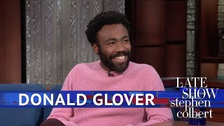 Donald-Glover-Meets-The-Girl-Scout-Who-Went-Viral-With-Redbone width=
