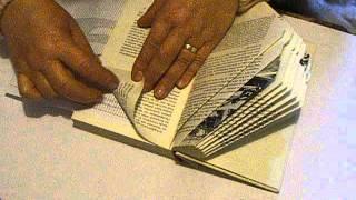 getlinkyoutube.com-Buch Falten die Zahl 9 Book Folding