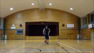 getlinkyoutube.com-【バスケ】パワードリブルの練習するよ