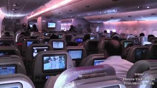 getlinkyoutube.com-Emirates A380- 800 Amazing Takeoff From Dubai to London & Night Landing At Heathrow
