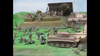 getlinkyoutube.com-JohnSpencerTV - WW2 Airfix Assault Gun Emplacement Pontoon Bridge
