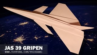 getlinkyoutube.com-How to make a Paper Airplane - Cool Jet Fighter paper plane that flies   JAS 39 Gripen