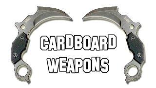 getlinkyoutube.com-✔ How to Make a Cardboard Weapons