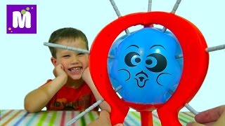 getlinkyoutube.com-Бум бум баллун игра распаковка лопают шарик колючками игрушка balloon and installation game toy