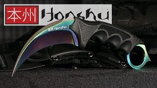 getlinkyoutube.com-United Cutlery Titanium Rainbow Honshu Karambit