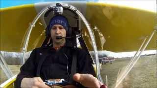 getlinkyoutube.com-Kolb Firefly Maiden Flight with Pilot Audio & 3 Camera Angles