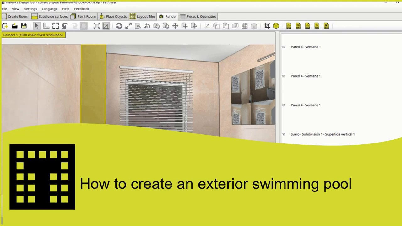 How to create an exterior swimming pool