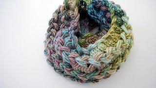 getlinkyoutube.com-How to Crochet a Hairpin Lace Infinity Scarf