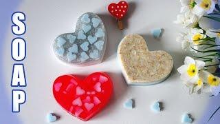 getlinkyoutube.com-DIY: Soap ● Мыло с сердечками ● 3 идеи для мыла из одной формы ● Мыло ко Дню святого Валентина