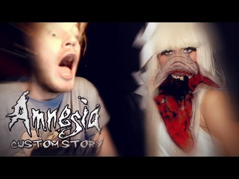 LADY GAGA HAS A NEW POKER FACE - Amnesia: Custom Story - The Haunted Stairwell