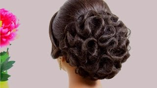 getlinkyoutube.com-Hairstyle for medium hair. Wedding updo
