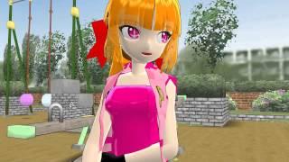 getlinkyoutube.com-MMD Blossom hates Brick Brick kiss Blossom breast