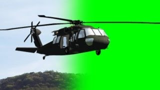 getlinkyoutube.com-Helicopter fly by green screen with sound - free green screen