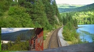 getlinkyoutube.com-Kootenay Valley Railway (Canadian Pacific) Cabride - Trail to Nelson, BC on an SD40-2