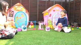 getlinkyoutube.com-メルちゃん ぽぽちゃん の1日 お洗濯 おもちゃ おままごと お世話 Baby Doll Mellchan POPOchan Toy