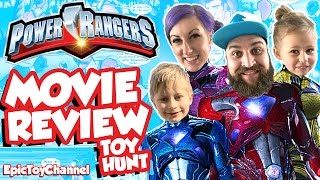POWER RANGERS MOVIE 2017 Movie Review & Power Rangers Toy Hunt for Official Megazord & Goldar Toys