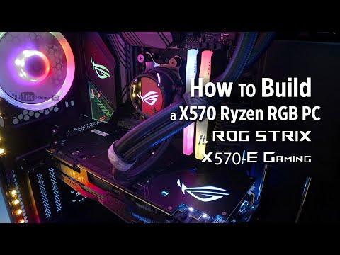 How to Build a X570 Ryzen RGB PC ft. ROG Strix X570-E Gaming - Step by step