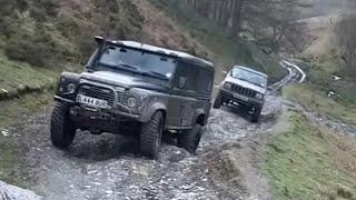 Green Laning - Jeep V Defender 110 TDCi V Defender 90 200 TDi