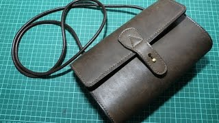 getlinkyoutube.com-Making a simple leather lady sling bag