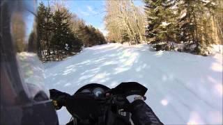 Snowmobiling Indian Lake, NY 3/26/14