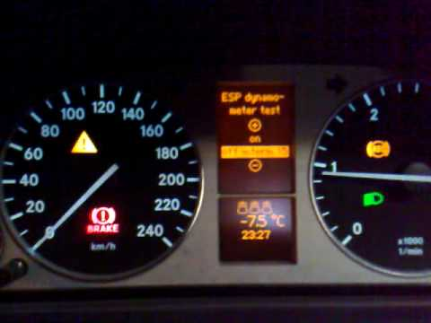 How to turn off ESP on Mercedes